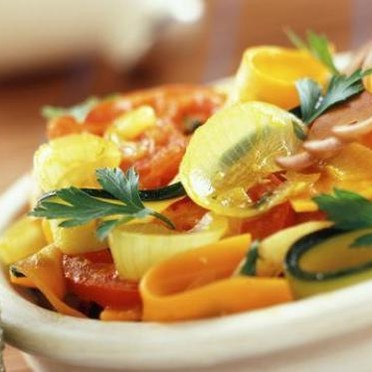 Tagliatelles de légumes à la vapeur