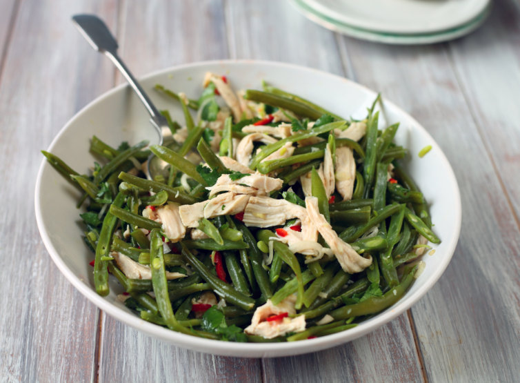 Chicken and green bean salad